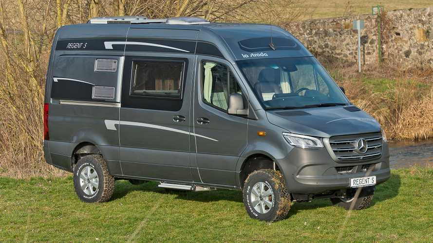 Mercedes Sprinter turned into lifted 4x4 campervan