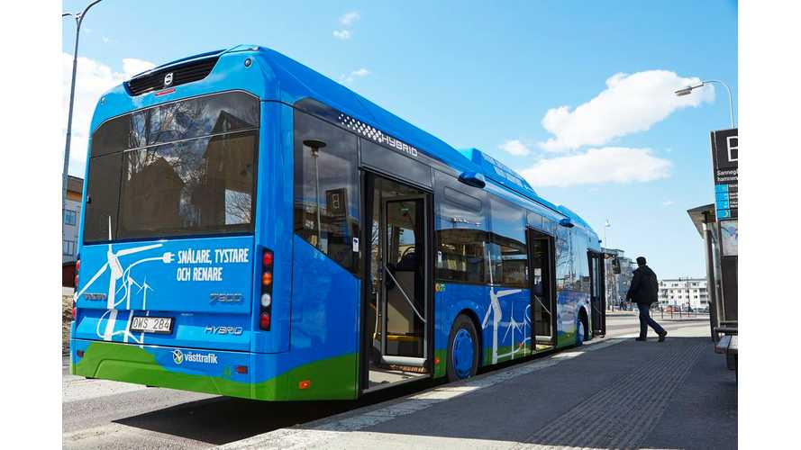 Volvo Buses To Focus More On Hybrids, Plug-In Hybrids And Electric