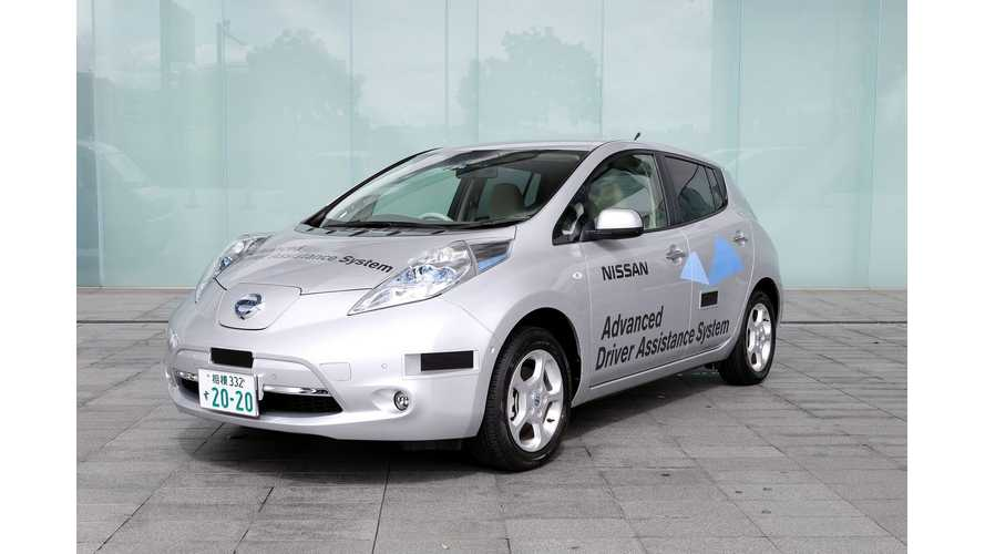 Nissan LEAF With Driver Assist System Gets License Plate For Public Road Testing In Japan (w/video)