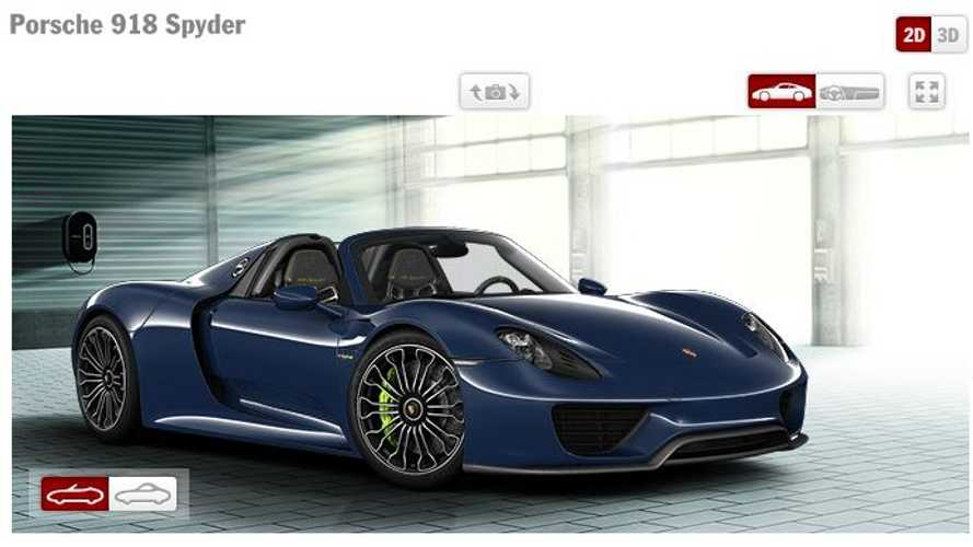 Porsche 918 Spyder Configurator Allows Us to Dream
