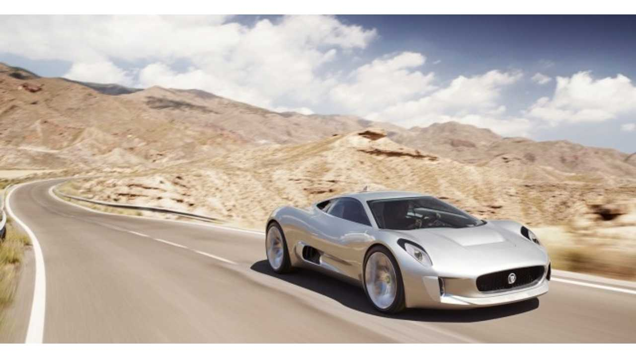 Yes...It's a looker...Unfortunately this may be the last glimpse we see of the Jaguar C-X75