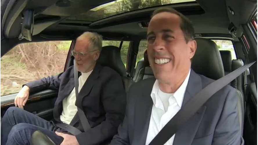 Jerry Seinfeld Gives David Letterman The Business Over Talk Show Host's Nissan LEAF (video)