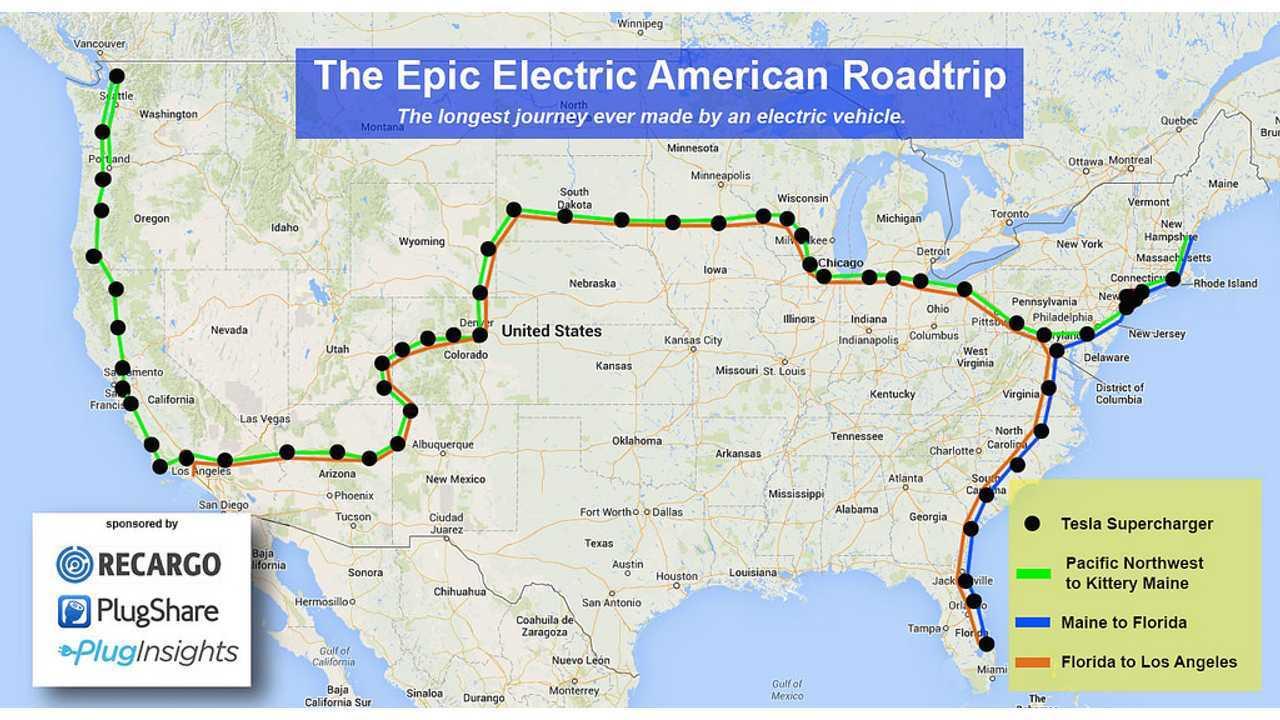 Tesla Model S Sets Out on Longest Journey Ever - 12,000 Miles in 18 Days