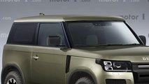 2020 Model 3 Kapılı Land Rover Defender'ın Hayali Tasarımı (Render)