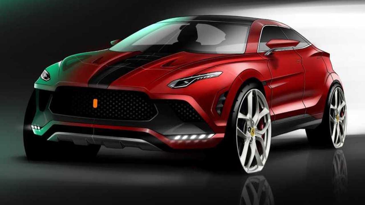 Ferrari Purosangue Rendering