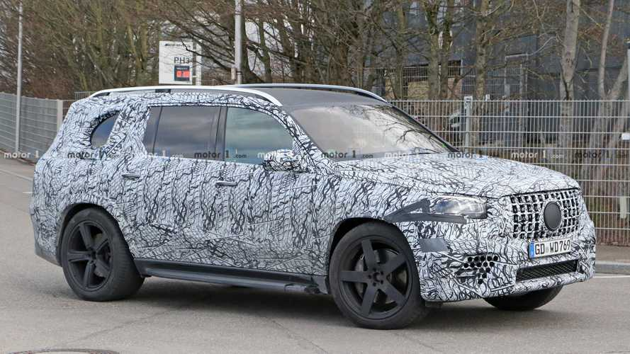 2021 Mercedes-AMG GLS 63 spied looking large and in charge