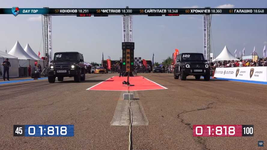 Mercedes-AMG G63 half-mile drag race pits old model vs new