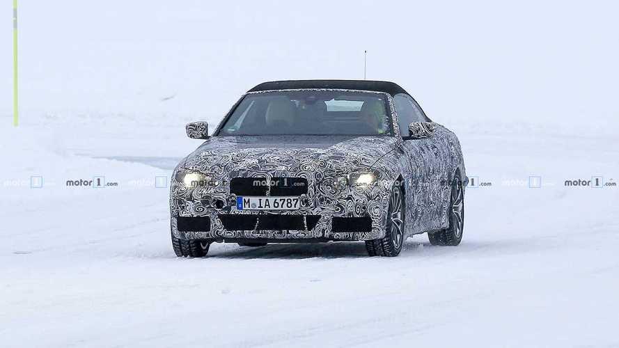 2019 BMW 4 Serisi Cabrio Kış Testinden Casus Fotoğraflar