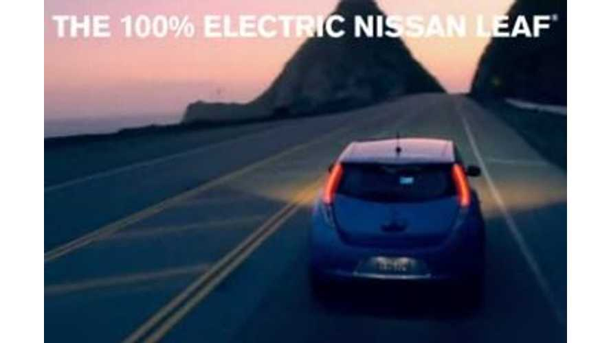 "Video: Nissan LEAF Commercial ""100% Electric"""