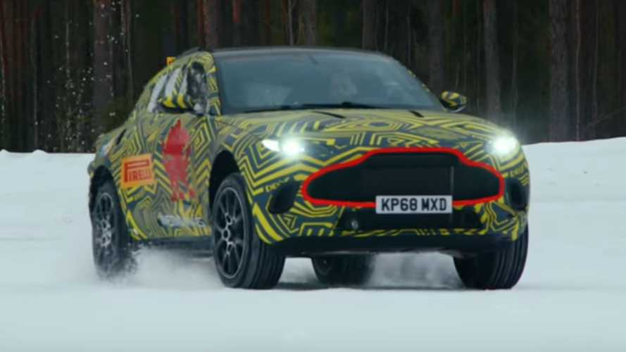 Aston Martin DBX snowy drifts are part of testing procedure