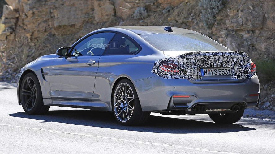 BMW M4 facelift seen with M Performance rear spoiler