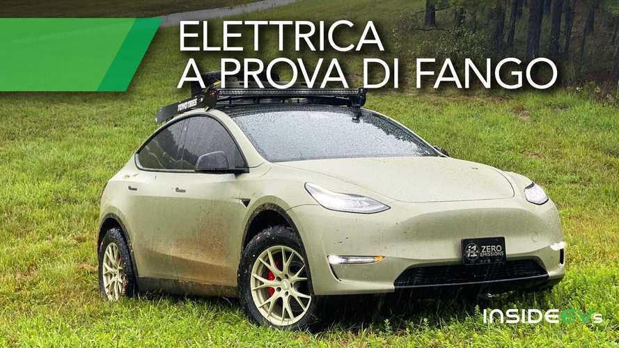 Una Tesla Model Y a prova di fango: la prova in off road