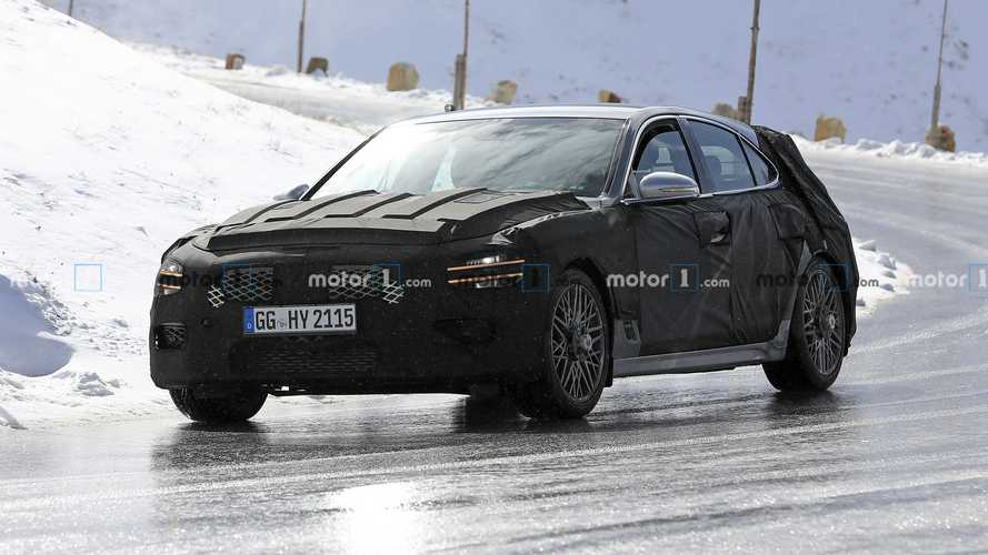 Genesis G70 wagon new spy photos