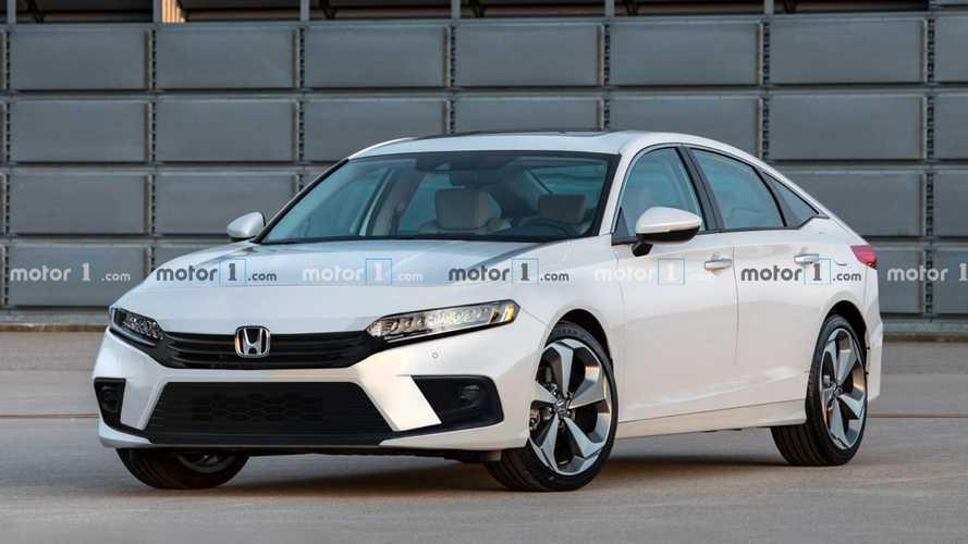 Novo Honda Civic 2022: projeção antecipa design da versão hatchback