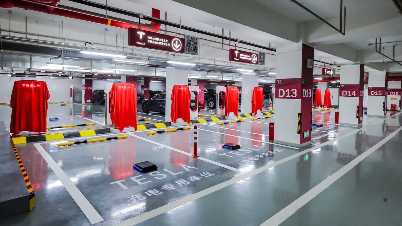 Tesla Supercharging station in China