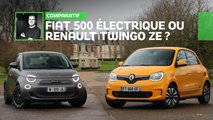 comparatif fiat 500 electrique renault twingo ze