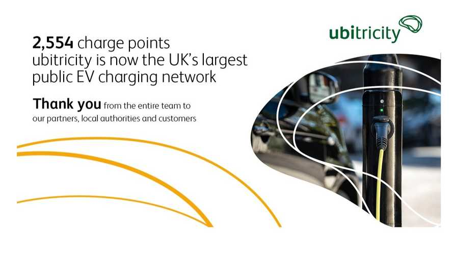 Ubitricity Is Now The Largest Public EV Charging Network In The UK