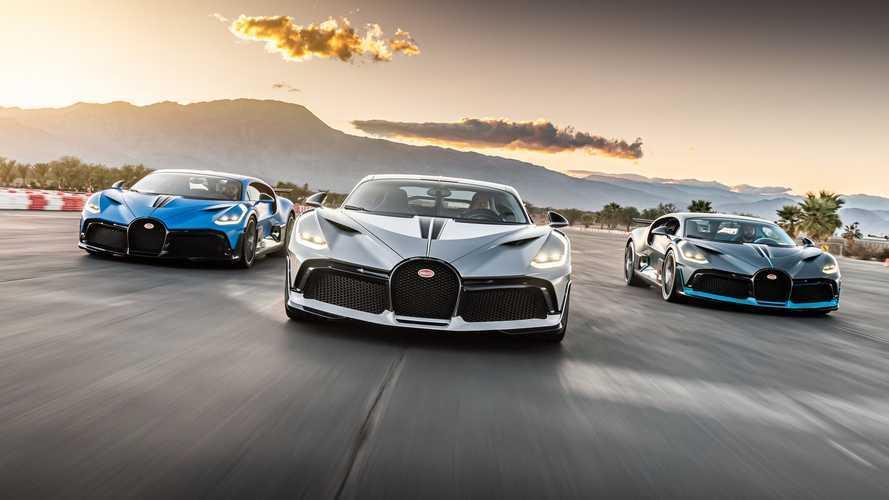 Így mutat 5 milliárd forintnyi Bugatti a californiai napsütésben