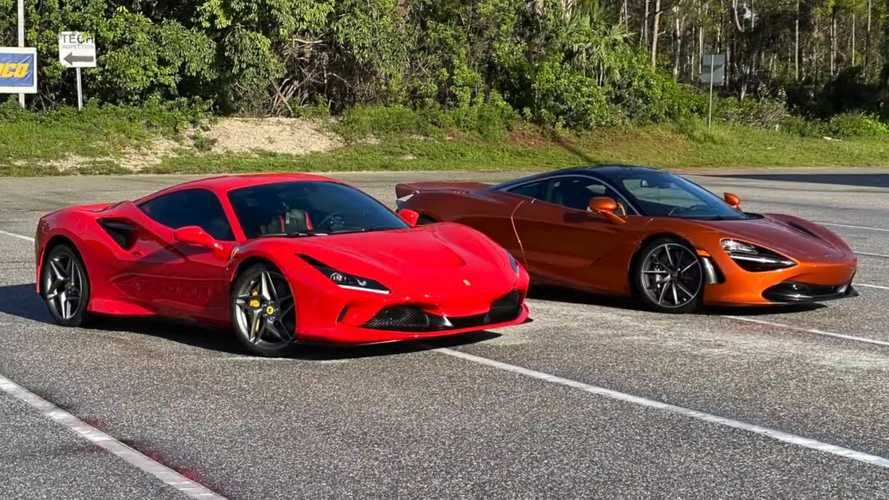 Watch Ferrari F8 Try To Take Down McLaren 720S In The Quarter Mile