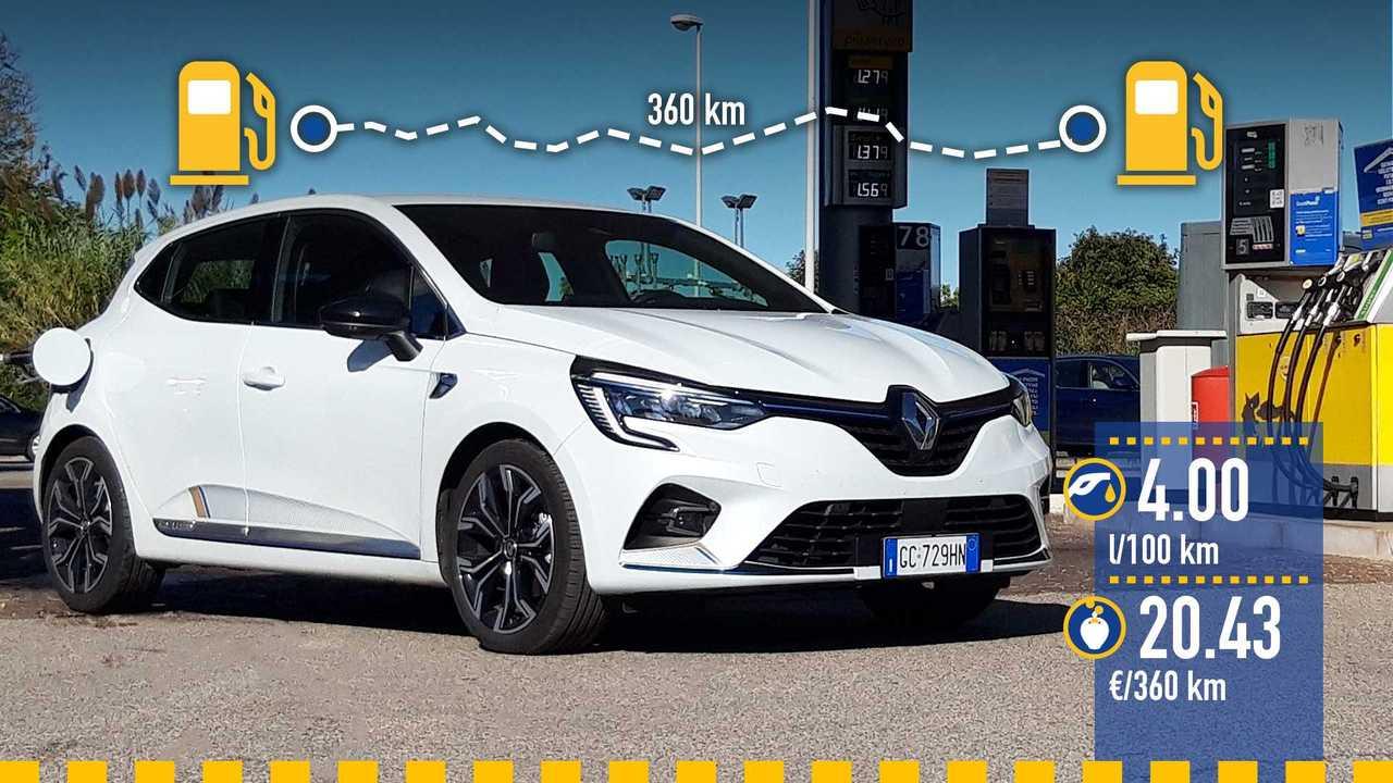 Renault Clio Hybrid, la prova consumi