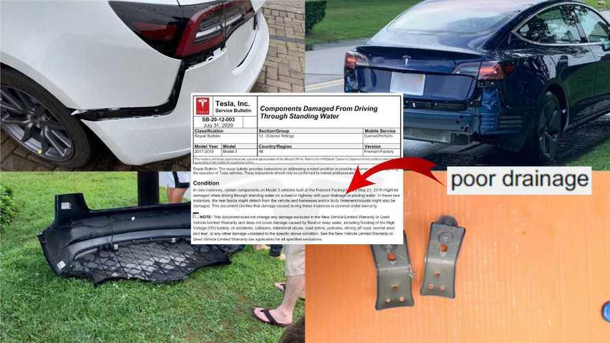 Tesla (Sort Of) Recognizes Model 3 Rear Bumper Has A Design Flaw