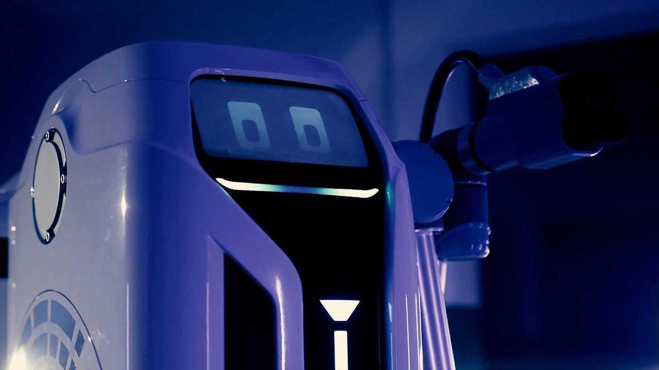 VW mobil EV töltő robot prototípus