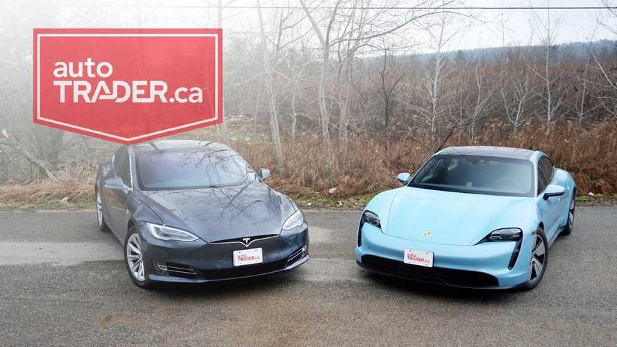 Tesla Model S Versus Porsche Taycan 4S: Epic Electric Car Comparison