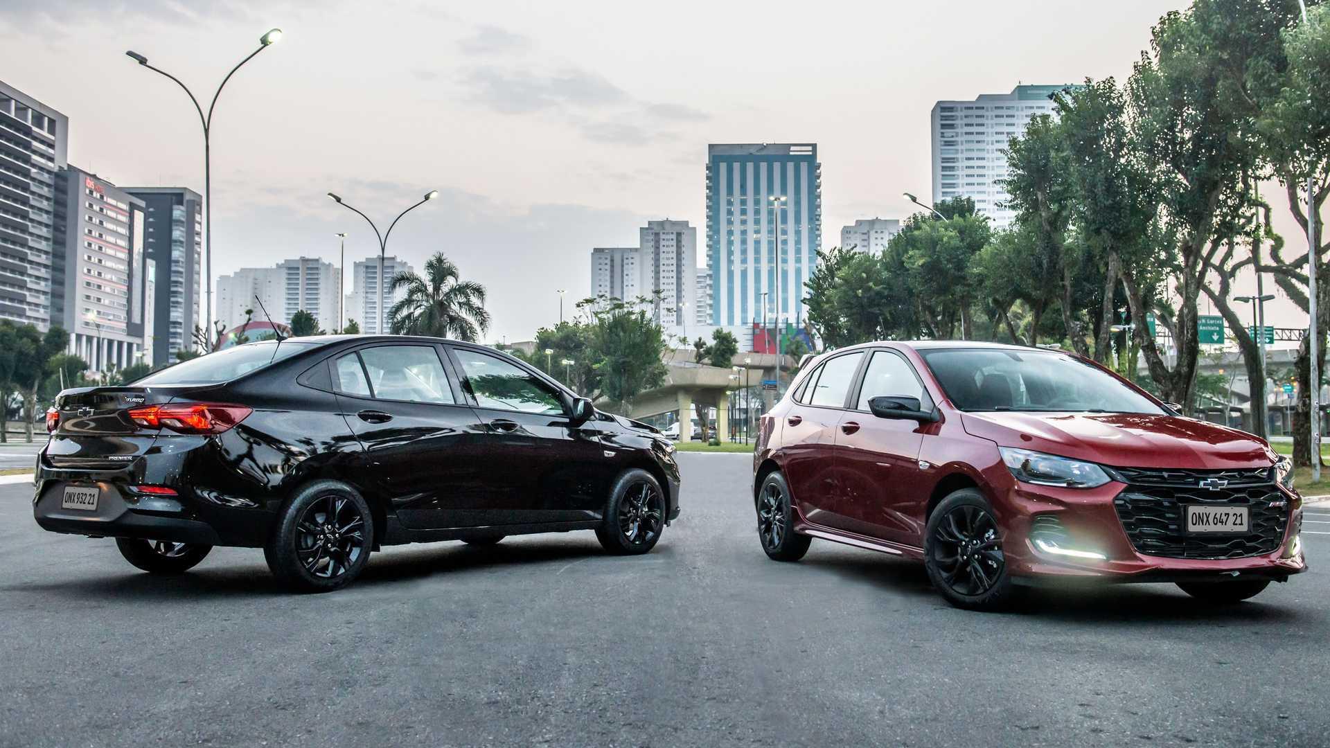 Novos Chevrolet Onix RS e Onix Plus Midnight são lançados como linha 2021