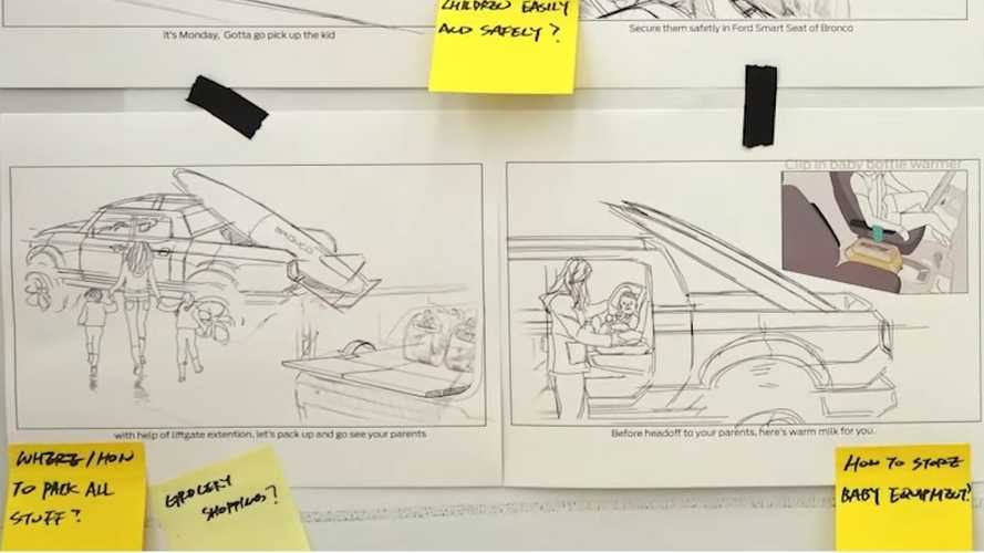 Official Ford Bronco Design Sketches Show Potential Pickup Version