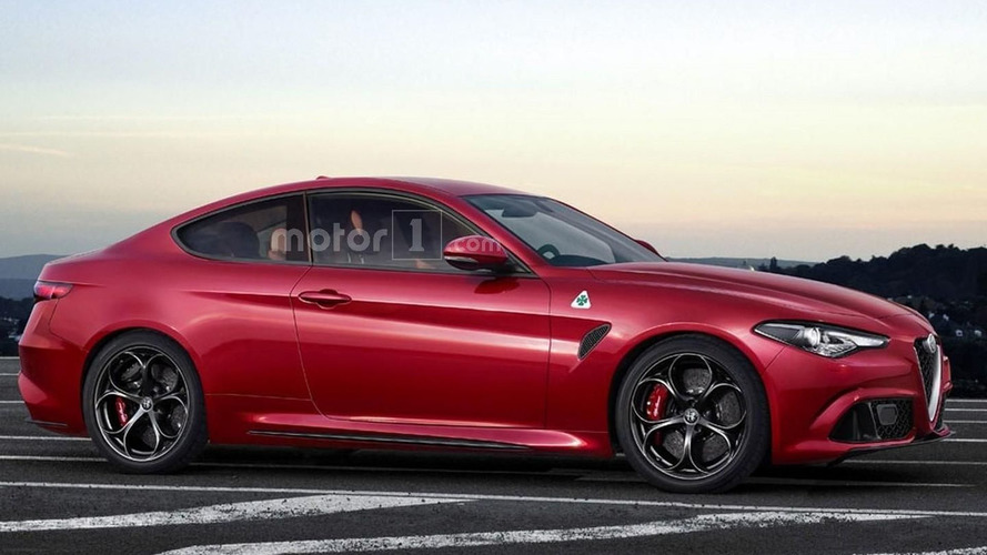 Alfa Romeo Giulia Coupe Quadrifoglio is only a speculative render