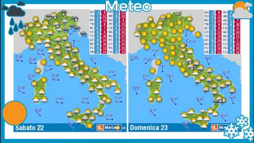 [Copertina] - Previsioni meteo del week end 22 e 23 febbraio