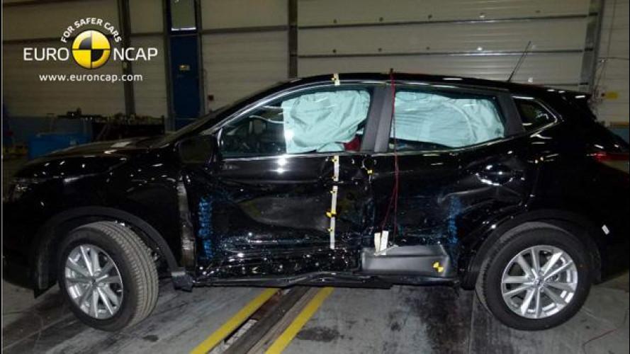 Nissan Qashqai promosso a pieni voti nei Crash Test