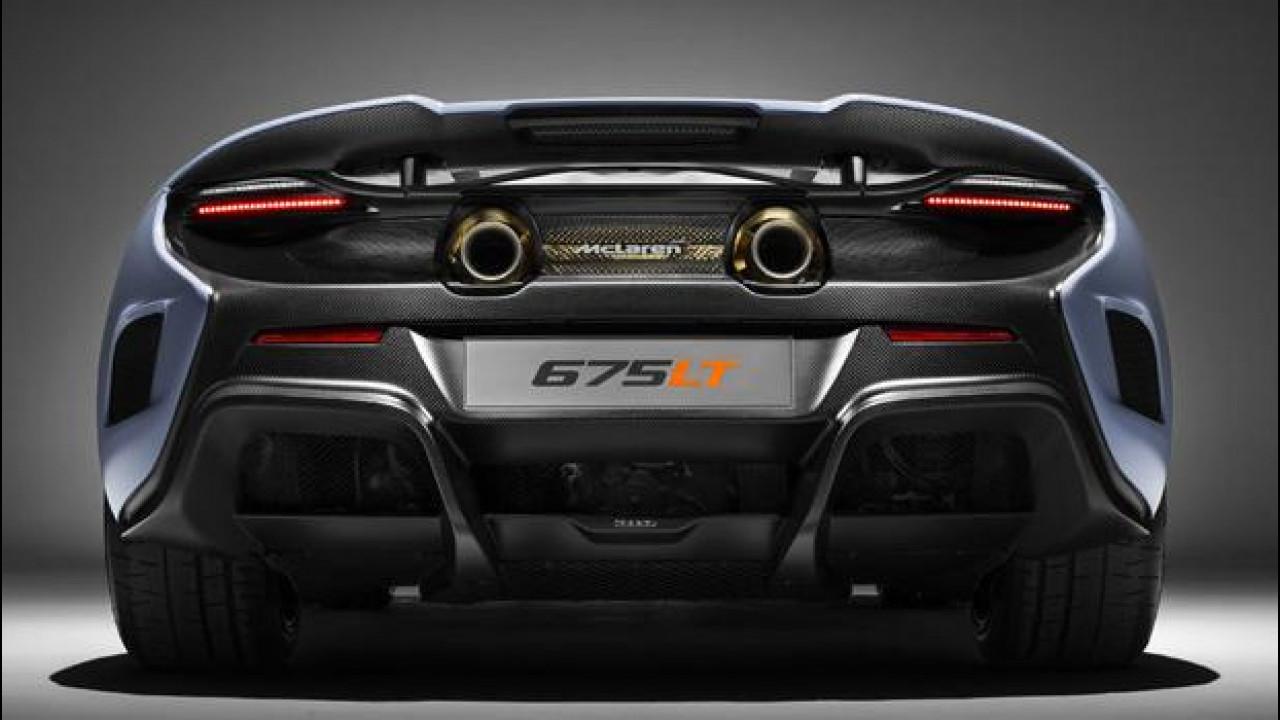 [Copertina] - McLaren, scarichi in oro 24k per la 675 LT Spider e la P1 MSO
