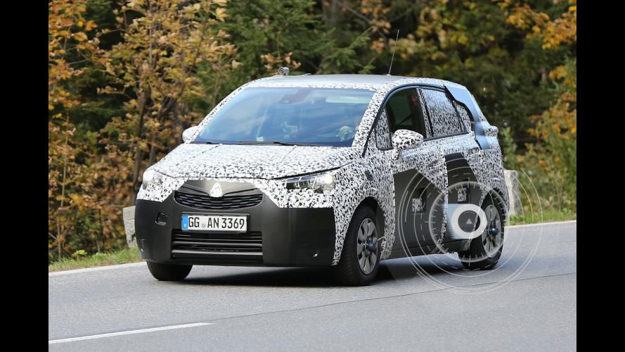 Nuova Opel Meriva, le prime foto spia