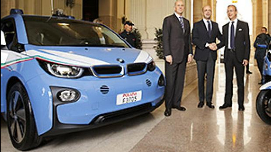 BMW i3, all'EXPO con la Polizia
