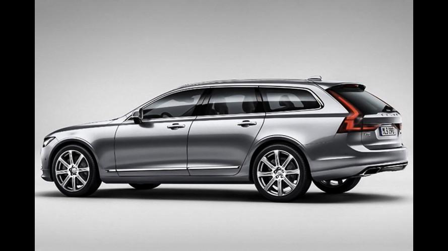 Volvo V90, la familiare si svela in anticipo