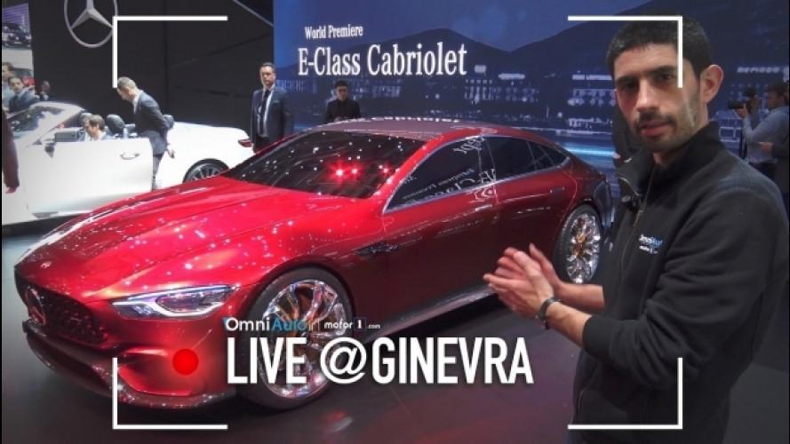 """Salone di Ginevra, la AMG GT Concept """"ammirata"""" dal vivo [VIDEO]"""