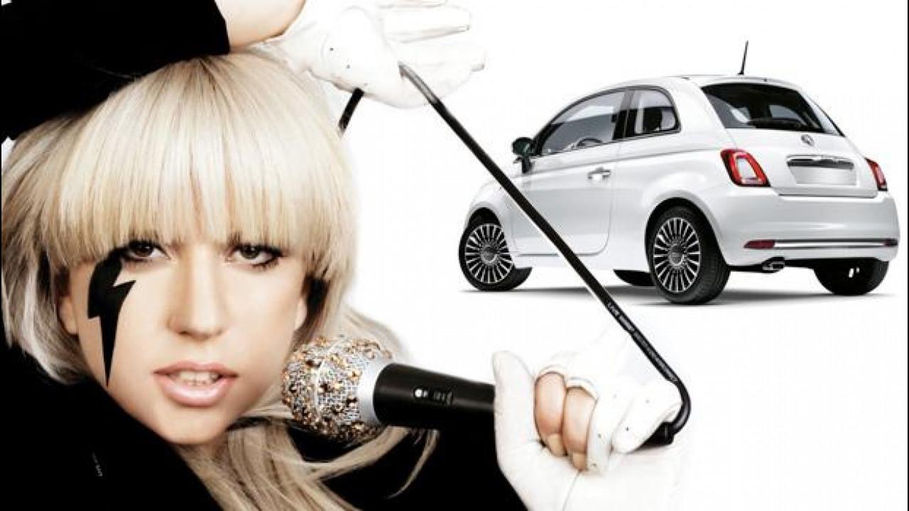 [Copertina] - Fiat 500C, Lady Gaga paga 100.000 euro per quella di Lapo Elkann