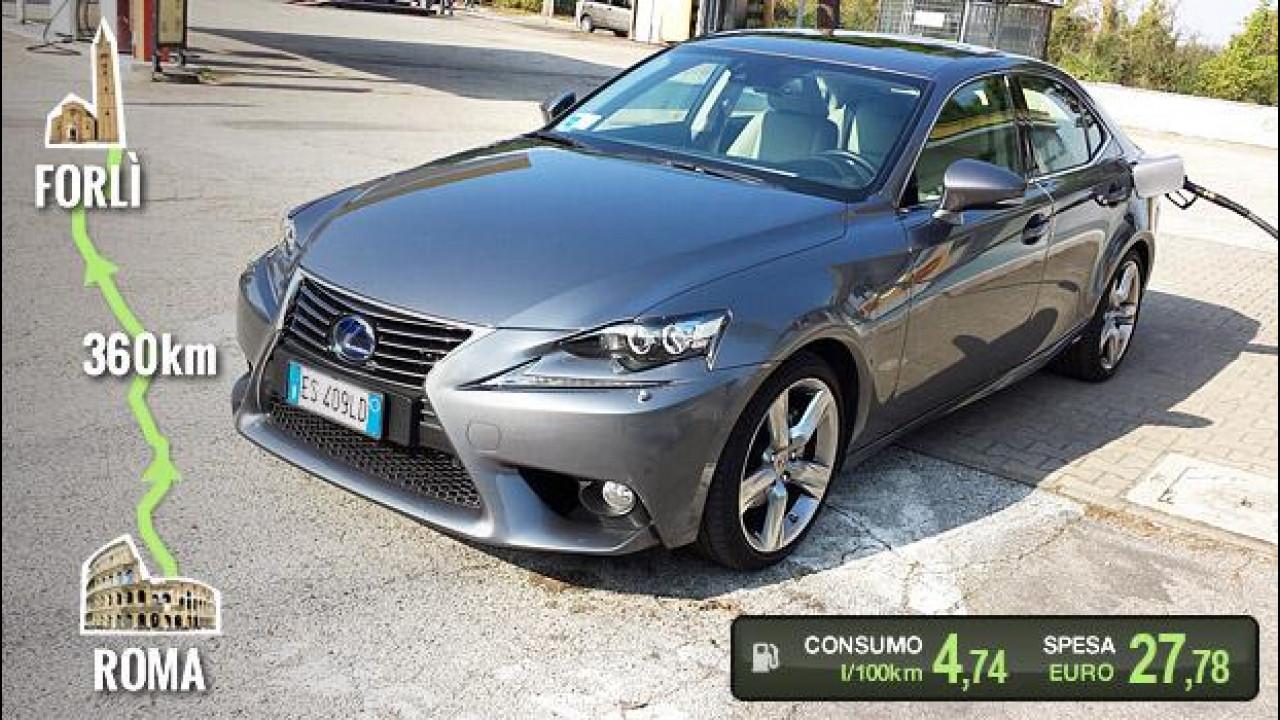 [Copertina] - Lexus IS Hybrid, la prova dei consumi reali