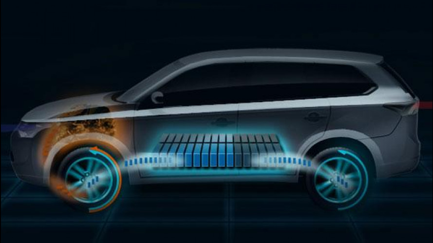Mitsubishi Outlander Plug-in Hybrid EV debutta a Parigi