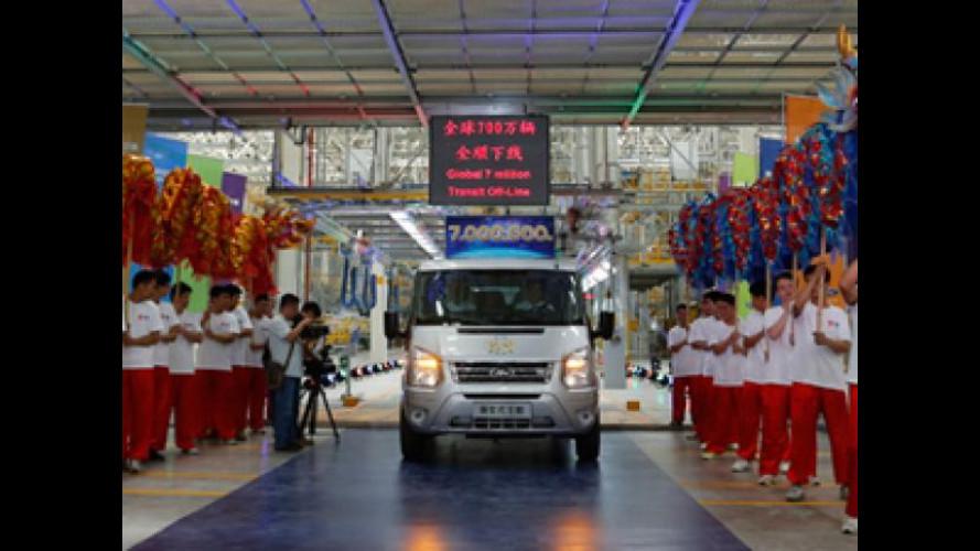 Ford festeggia uno storico traguardo: 7 milioni di Transit