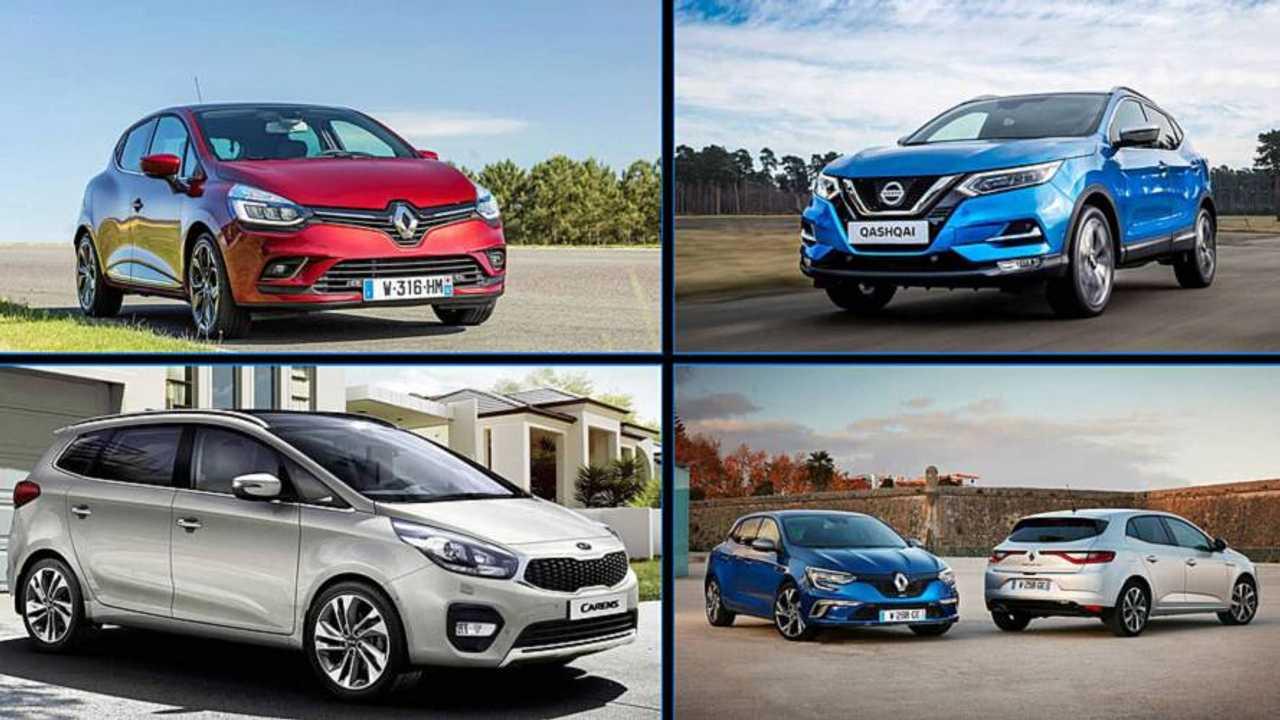 Mosaico coches más vendidos