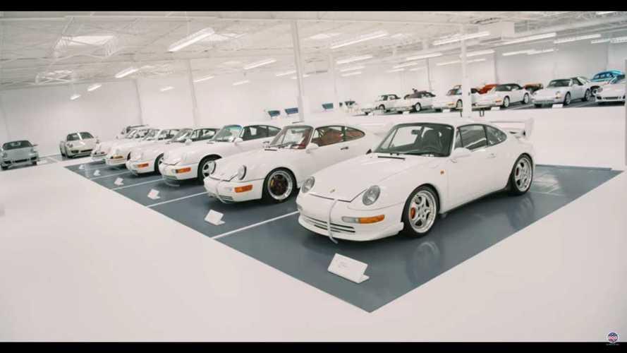 A világ legnagyobb fehér Porschékből áll kollekcióját mutatta meg egy gyűjtő