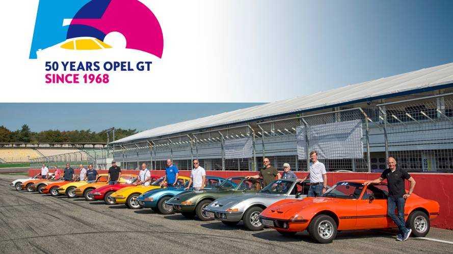 Opel GT, Hockenheimring'de 50'nci yılını kutladı