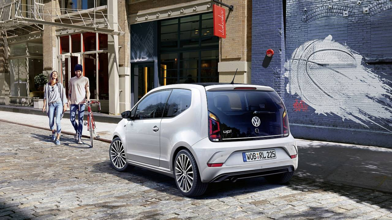 vw up with r line exterior package is all show no extra go. Black Bedroom Furniture Sets. Home Design Ideas