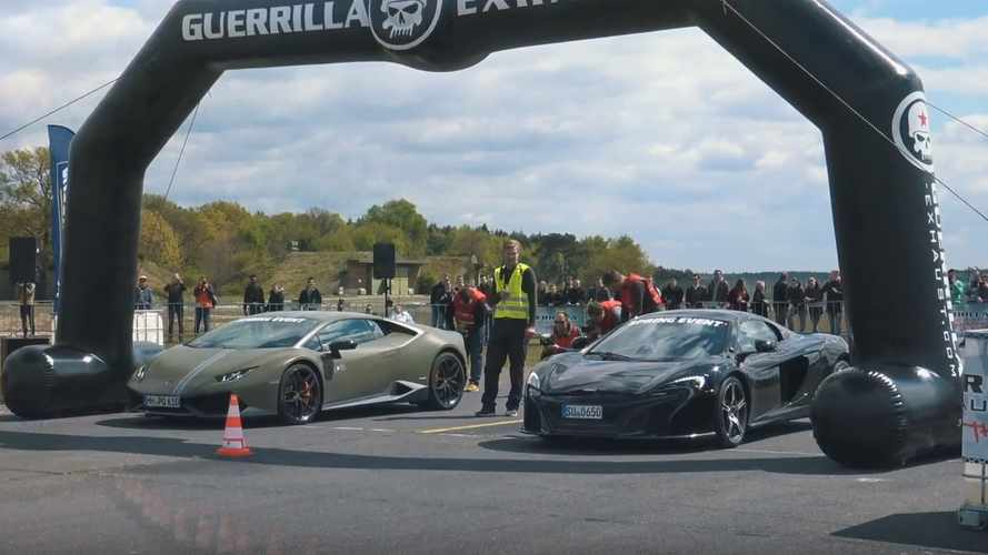McLaren 650S vs. Mercedes-AMG GT R, Lambo Huracan in drag races