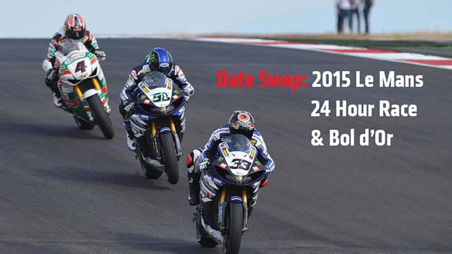 Date Swap: 2015 Le Mans 24 Hour Race & Bol d'Or