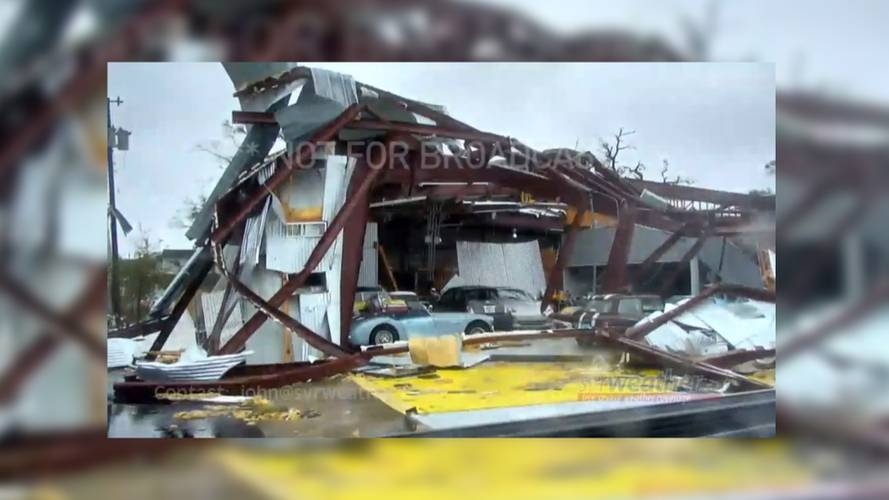 Video Shows Classic Cars, Garage Ravaged By Hurricane Michael