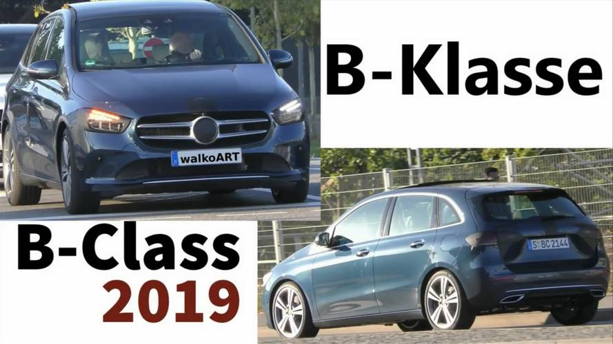 New Mercedes B-Class practically revealed by barely disguised prototype