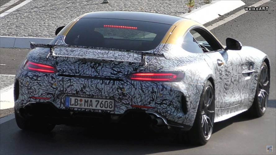 Mercedes-AMG GT R Spied With Well-Endowed Exhaust Pipes